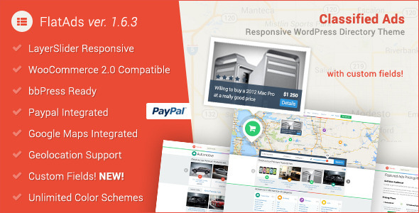 FlatAds-Classified-Ads Directory WordPress-Theme